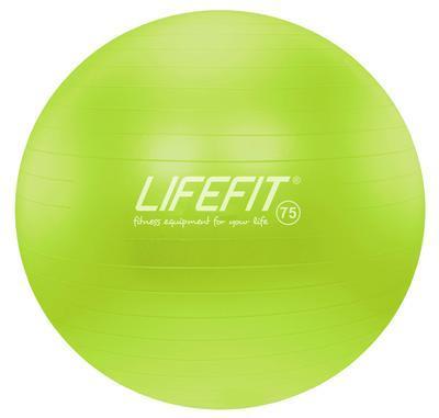 Gymnastický míč LIFEFIT ANTI-BURST 75 cm, zelený, 75 cm, zelená - 1