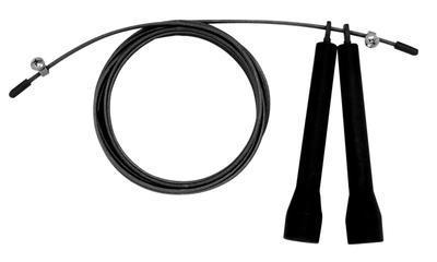 Švihadlo Lifefit Speed rope ocelové lanko, černá