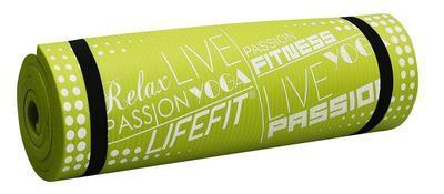 Yoga mat Lifefit 180x60cm 1,5cm zelená - 1