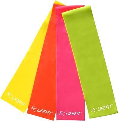 Posilovací guma LIFEFIT FLEXBAND 0,45, žlutá - 1