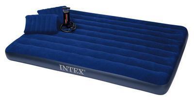 SET Matrace nafukovací Intex Double + 2x polštář + pumpa - 1