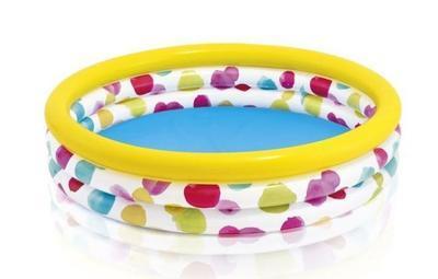 Bazén nafukovací Intex 147x33, color wave - 1