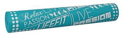 Yoga mat Lifefit 173x61cm 0,4cm modrá - 1