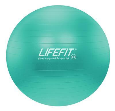 Gymnastický míč LIFEFIT ANTI-BURST 55 cm, tyrkysová - 1