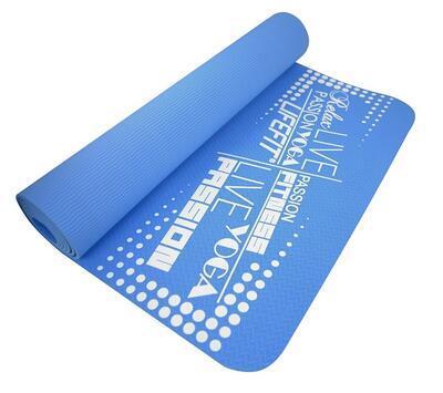 Podložka LIFEFIT YOGA MAT TPE, 183x61x0,4cm, modrá - 1