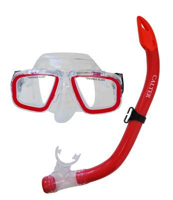 Potápěčský set Calter, JUN-červená (šnorchl+brýle)