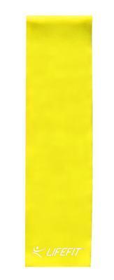 Posilovací guma LIFEFIT FLEXBAND 0,45, žlutá - 2