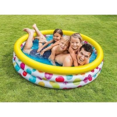 Bazén nafukovací Intex 147x33, color wave - 2
