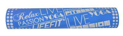 Podložka LIFEFIT YOGA MAT TPE, 183x61x0,4cm, modrá - 2