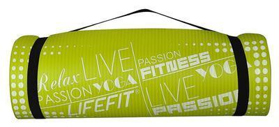 Yoga mat Lifefit 180x60cm 1,5cm zelená - 3